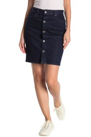 Levi's Embroidered Button Front Denim Skirt