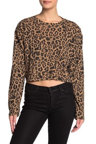LNA Nat Slub Long Sleeve Crop Top