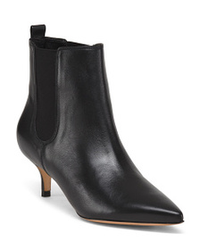 SCHUTZ Made In Brazil Leather Pointy Toe Booties