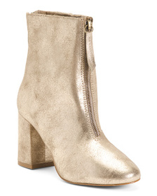 MATISSE Made In Brazil Leather Front Zip Booties