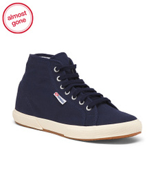 SUPERGA High Top Canvas Sneakers