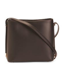 TANO Leather Hobo With Hardware Detailing