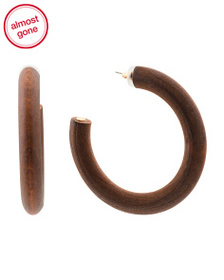 KENNETH JAY LANE Wood Hoop Earrings