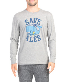 LIFE IS GOOD Save The Ales Long Sleeve Crusher Tee