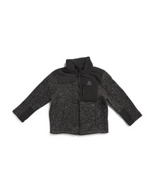 REEBOK Little Boys Sweater Fleece Jacket