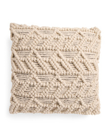 HANDCRAFTED IN INDIA 20x20 Chunky Loop Textured Pi