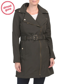 BCBGENERATION Asymmetrical Belted Water Resistant