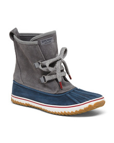 SPERRY Premium Suede Lace Up Duck Boots