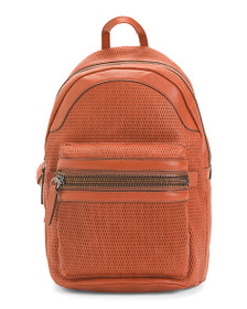 FRYE Lena Perforated Leather Backpack