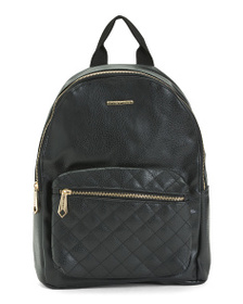 RAMPAGE Metallic Quilted Front Backpack
