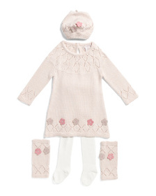 CATHERINE MALANDRINO Infant Girls Floral Sweater D