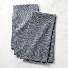 Crate Barrel NewDenim Dish Towels, Set of 2