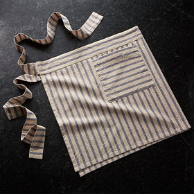 Crate Barrel NewMarket Blue Stripe Waist Apron