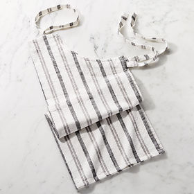 Crate Barrel NewFarmhouse Grey Stripe Apron