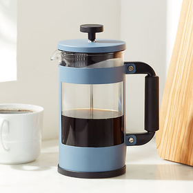 Crate Barrel Primula Melrose Blue 8-Cup Coffee Pre