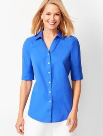 Talbots Perfect Shirt - Elbow-Length Sleeves - Sol