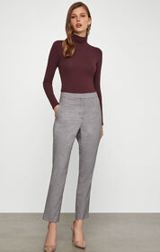 BCBG Fitted Plaid Trouser
