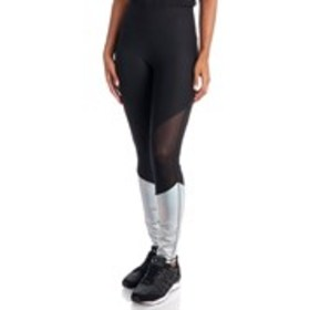 BEBE SPORT Metallic Color Block Active Leggings