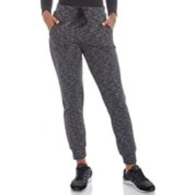 DAISY FUENTES Space-dye Fleece -Lined Joggers