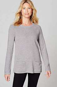 Textured Two-Pocket Pullover