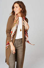 Long-Line Shawl-Collar Cardi