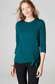 Draped Side-Tie Pullover