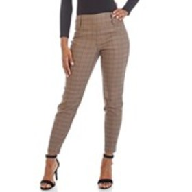 Glen Plaid Stretch Dress Pants