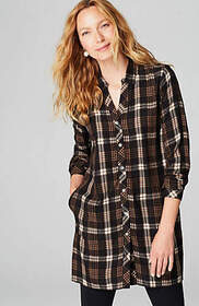 Plaid A-Line Tunic