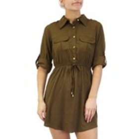 SPEED CONTROL Petite Shirt Dress with Cinched Wais