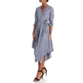 MLLE GABRIELLE Hanky Hem Wrap Dress