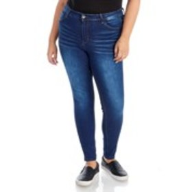 WAX Juniors Plus High Waist Stretch Skinny Jeans