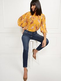 High-Waisted Curvy No-Gap Shaping Super-Skinny Jea
