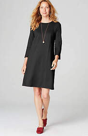Ponte Knit Multiseamed Dress