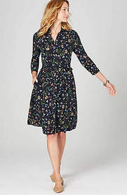 Belted Floral Shirtdress