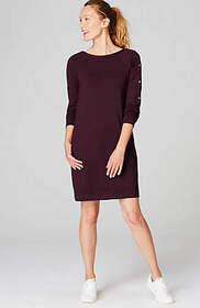 Fit Snap-Sleeve Dress
