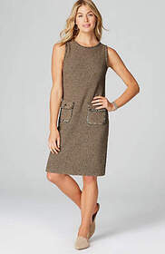 Tweed Sweater Dress