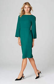 Christian Siriano For J.Jill Flared-Sleeve Dress