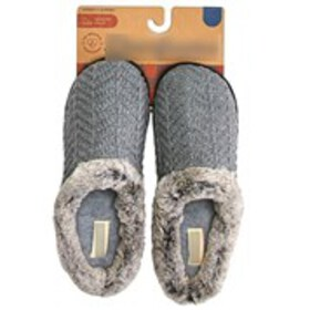 Womens Sweater Knit Clog Slippers