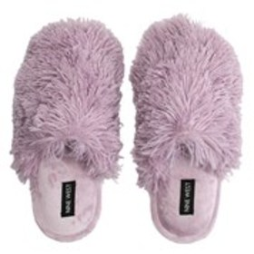 NINE WEST Nine West Womens Faux Fur Scuff Slippers