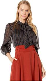 Rebecca Taylor Long Sleeve Lurex Stripe Top