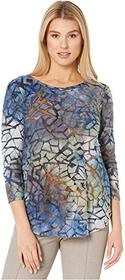 Karen Kane Tie-Dye Burnout Shirttail Tee