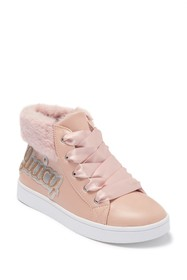 Juicy Couture Olvera Faux Fur Trimmed Sneaker (Tod