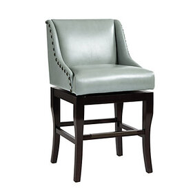 Marcello Leather Counter Stool - Mineral