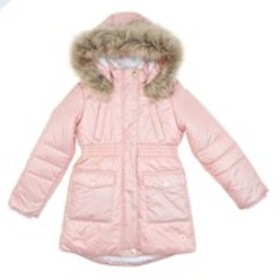 Girls Hi-Lo Sherpa Lined Puffer Jacket with Faux F