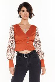 Nasty Gal Womens Rust Print to the Finish Leopard