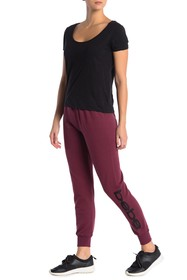 bebe Sport Embroidered Logo Joggers