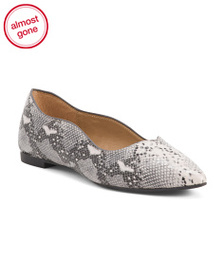 ESPRIT Scalloped Snake Flats