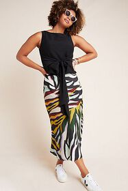 Anthropologie Andie Tie-Front Sleeveless Blouse