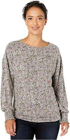 Lucky Brand Floral Cloud Jersey Smocking Top