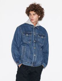 Armani HOODED DENIM JACKET